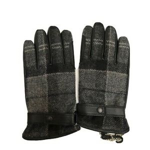 Barbour / Moon Newbrough Tartan Gloves Gray Black